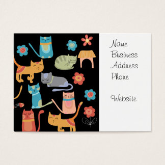 Cute Colorful Kitty Cats Gifts for Cat Lovers Business Card
