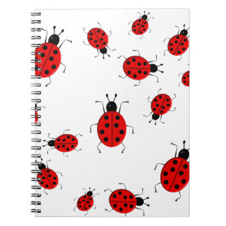 Cute colorful ladybugs clip art spiral notebooks