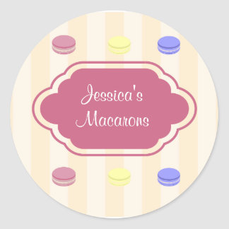 Cute Colorful Macarons Bakery Product Label