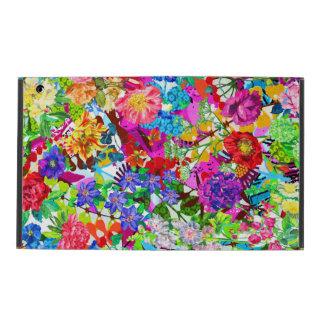 Cute colorful magic flowers iPad folio case
