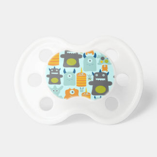 Cute colorful monsters baby pacifiers