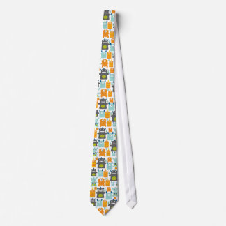Cute colorful monsters necktie