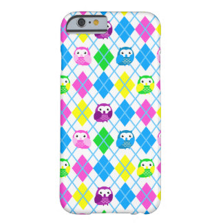 Cute Colorful Owl Argyle Barely There iPhone 6 Case