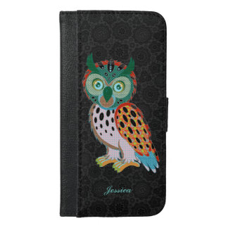 Cute Colorful Owl Illustration iPhone 6/6s Plus Wallet Case