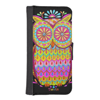 Cute Colorful Owl iPhone 5/5S Wallet Case