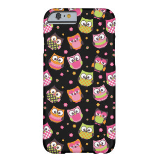Cute Colorful Owls iPhone 6 case (black) Barely There iPhone 6 Case