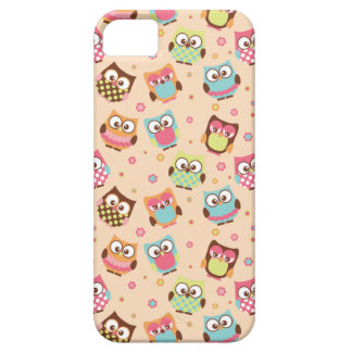 Cute Colorful Owls iPhone Case (pale apricot) iPhone 5 Covers