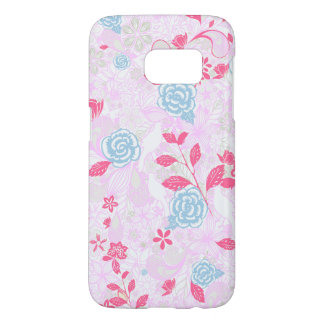Cute colorful pastel floral pattern