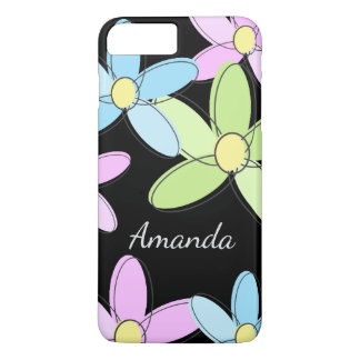 Cute Colorful Personalized Pastel Flowers iPhone 8 Plus/7 Plus Case
