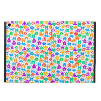Cute colorful pixelated monsters patterns iPad air cover