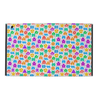 Cute colorful pixelated monsters patterns iPad cover