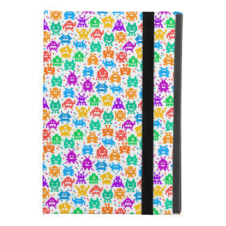 Cute colorful pixelated monsters patterns iPad mini 4 case
