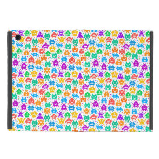 Cute colorful pixelated monsters patterns iPad mini cover
