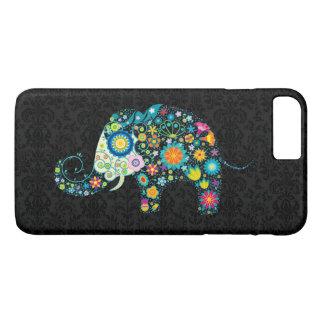 Cute Colorful Retro Flower Elephant Design iPhone 8 Plus/7 Plus Case