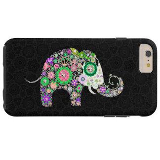 Cute Colorful Retro Flowers Elephant 2a Tough iPhone 6 Plus Case
