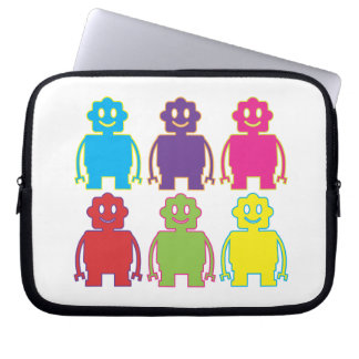 Cute Colorful Robots Computer Sleeve Case
