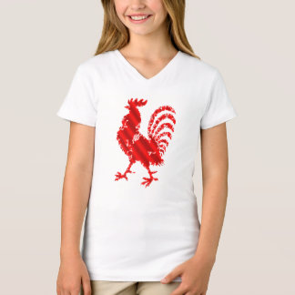 cute colorful rooster funny t-shirt gift idea