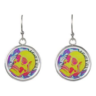 Cute Colorful Skull Earrings