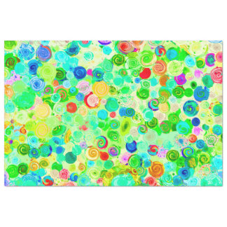 Cute colorful spiral cosmos patterns tissue paper