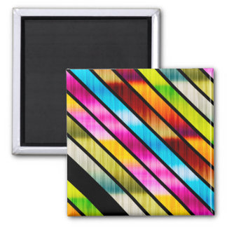 Cute colorful stripes magnet
