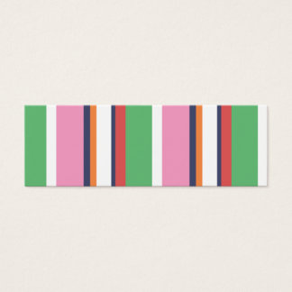 Cute Colorful Stripes Mini Profile Card