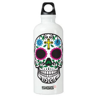 Cute Colorful Sugar Skull Dia de los Muertos Water Bottle