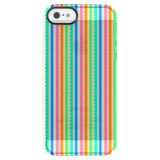 Cute colorful summer stripes clear iPhone SE/5/5s case