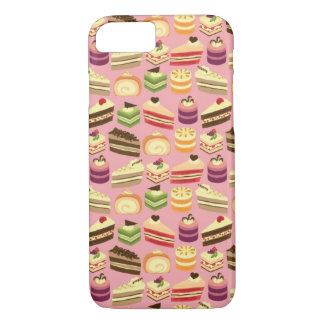 Cute Colorful Tea Cakes Girly Illustration Pattern iPhone 8/7 Case
