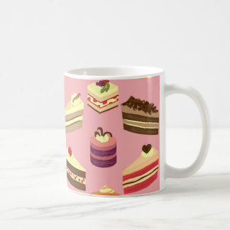 Cute Colorful Tea Cakes Illustration Pattern Coffee Mug