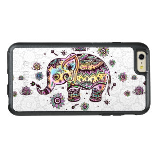 Cute Colorful Tribal Flowers Elephant Illustration OtterBox iPhone 6/6s Plus Case