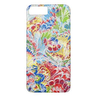 Cute colorful vintage floral iPhone 7 plus case