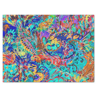 Cute colorful vintage floral tissue paper