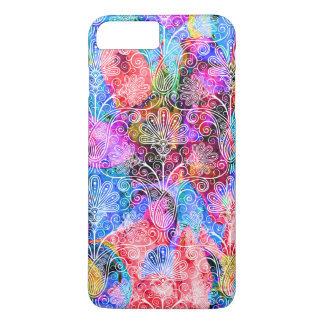 Cute colorful white flowers patterns iPhone 7 plus case