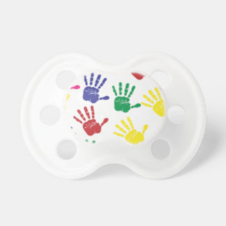 Cute colourful baby hands print Dummy