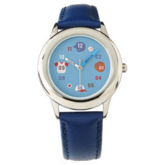 Cute Colourful Baseball Theme Watch