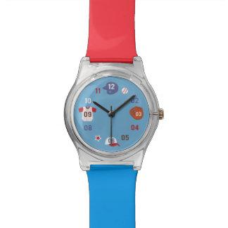 Cute Colourful Baseball Theme Watches