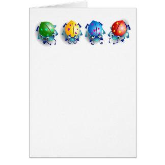 Cute Colourful Bugs Card