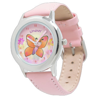 Cute Colourful Butterfly Cartoon Wrist Watches