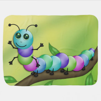 Cute Colourful Caterpillar Baby Blanket