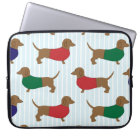 Cute Colourful Dachshund Dogs, Laptop Sleeve 15""