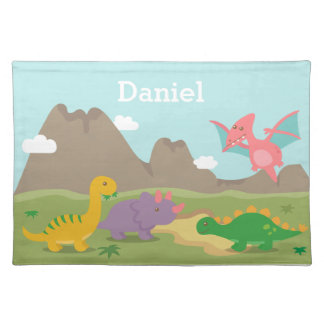 Cute Colourful Dinosaurs For kids Placemat