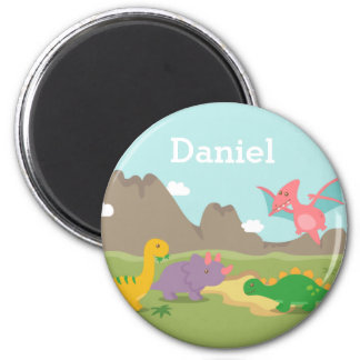 Cute Colourful Dinosaurs Kids Magnet