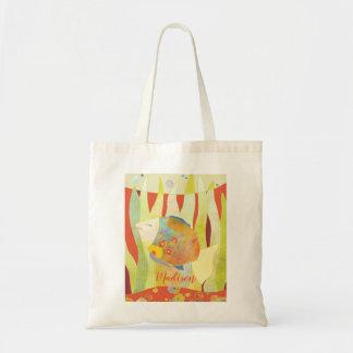Cute Colourful Flower Fish Kids Tote Bag