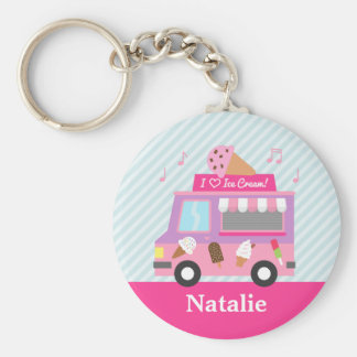Cute Colourful Ice Cream Truck For Girls Keychains