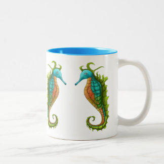 Cute Colourful Island Art Seahorse 2 Mug by Yotigo