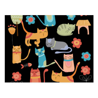 Cute Colourful Kitty Cats Gifts for Cat Lovers Postcard