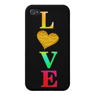 cute colourful love heart iphone7 cover design