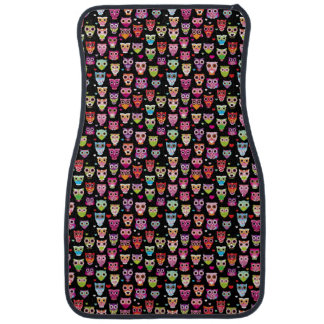 cute colourful owl kids pattern car mat