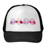 Cute Colourful Owls - Pink and Purple Pastels
