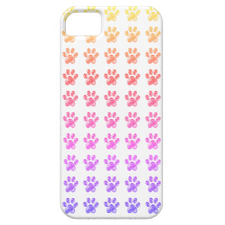 Cute colourful paws iPhone 5 cover